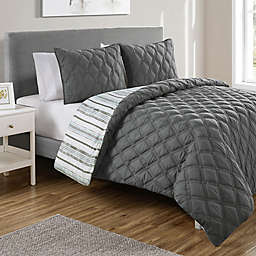 VCNY Home Quad Reversible Duvet Cover Set