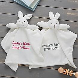 Baby Bunny Security Blanketin White