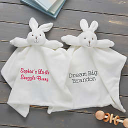 Baby Bunny Security Blanketin White