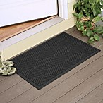 Weather Guard™  Diamonds 23-Inch x 35-Inch Door Mat in Charcoal