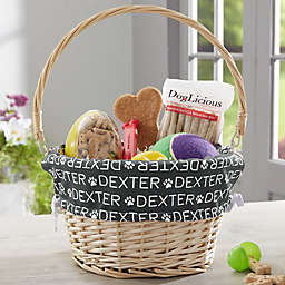 Repeating Pet Name Personalized Dog Easter Basket