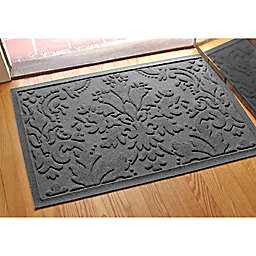 Weather Guard™ Damask 23-Inch x 35-Inch Door Mat in Charcoal