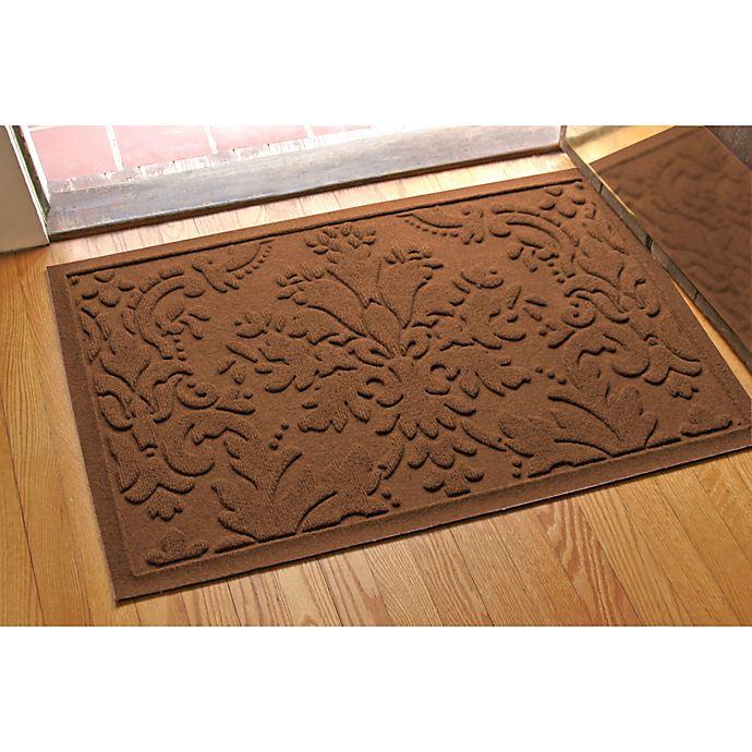 Alternate image 1 for Weather Guard™ Damask 23-Inch x 35-Inch Door Mat in Dark Brown