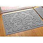 Weather Guard™ Damask 23-Inch x 35-Inch Door Mat in Medium Gray