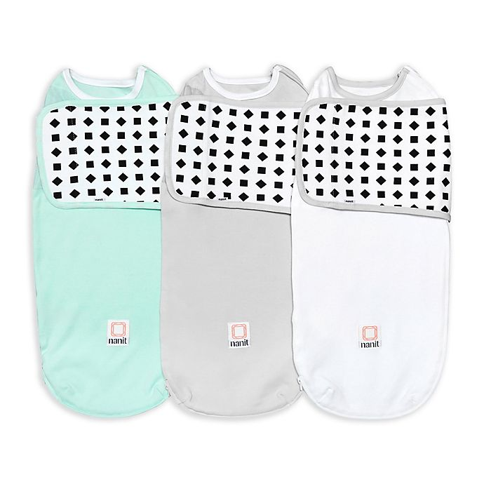 Alternate image 1 for Nanit Size 0-3M Breathing Wear Swaddles (Set of 3)