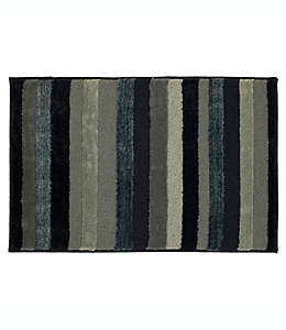 Tapete decorativo de poliéster Mohawk Home® Farmhouse a rayas, 50.8 x 86.36 cm color azul marino
