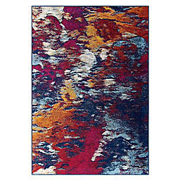 Modway Entourage Foliage Modern Abstract 5' x 8' Area Rug in Red/Multicolor