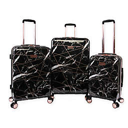 Juicy Couture® 3 -Piece Hardside Spinner Luggage Set in Black Marble