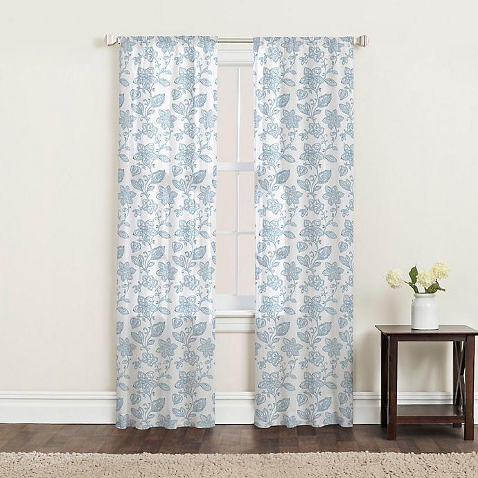 Alternate image 1 for SALT™ Calera 2-Pack Rod Pocket Window Curtain Panels