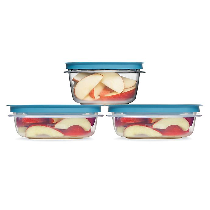 Alternate image 1 for Rubbermaid® Flex & Seal™ 6-Piece Food Containers with  Easy Find Lids