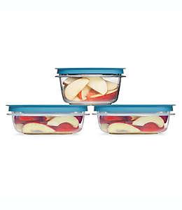 Contenedores de alimentos Flex & Seal™ Rubbermaid® con tapas en azul, Set de 6