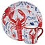 Part of the Certified International Nautical Life Lobster Dinnerware Collection