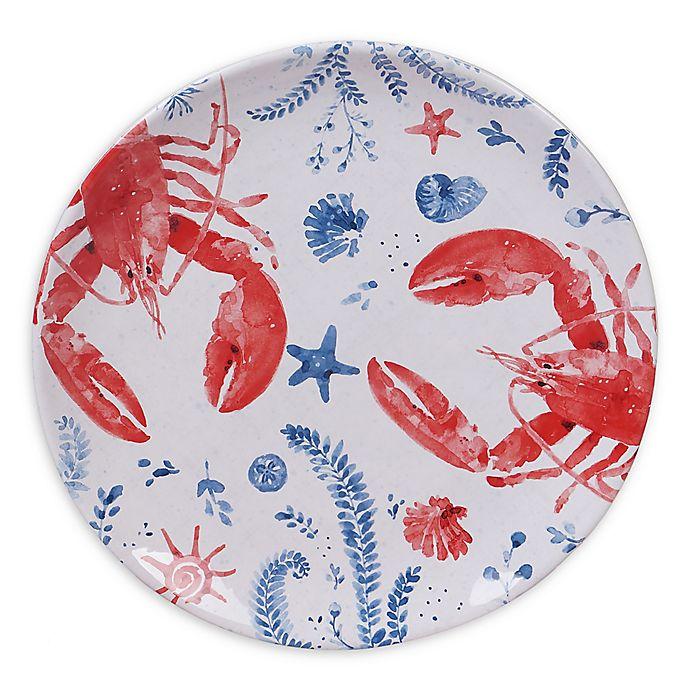 Alternate image 1 for Certified International Nautical Life Lobster Dinner Plates (Set of 4)