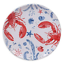 Certified International Nautical Life Lobster Dinner Plates (Set of 4)