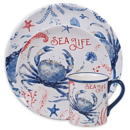 Certified International Nautical Life Crab Dinnerware Collection