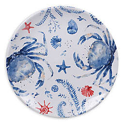 Certified International Nautical Life Crab Dinner Plates (Set of 4)