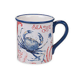 Certified International Nautical Life Crab Mugs (Set of 4)