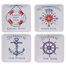 Certified International Nautical Life Appetizer Plates (Set of 4)