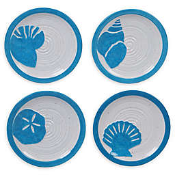 Certified International Natural Coast Appetizer Plates (Set of 4)