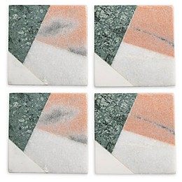 Thirstystone® Marble Square Coasters (Set of 4)