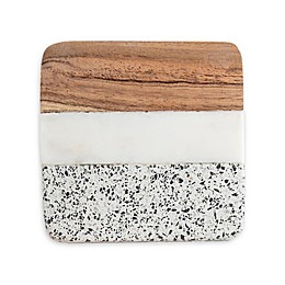 Thirstystone® Marble, Terrazzo, and Wood Coasters (Set of 4)