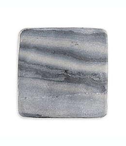 Portavasos de mármol Thirstystone® y borde plateado, Set de 4