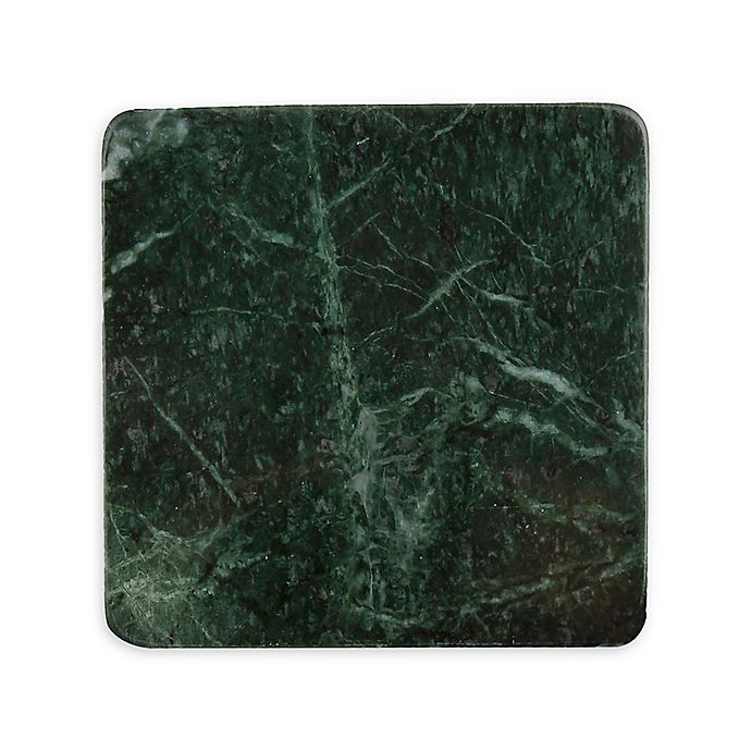 Alternate image 1 for Thirstystone® Marble Coasters in Dark Green (Set of 4)