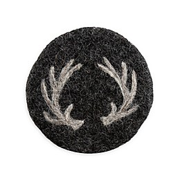 Thirstystone® Antler Coasters in Black/White (Set of 4)