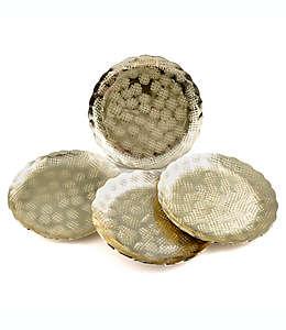 Portavasos amartillados Thirstystone® en dorado, Set de 4
