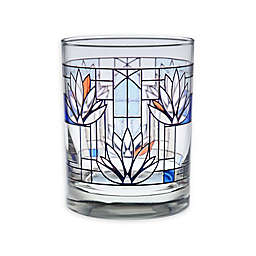 Frank Lloyd Wright Waterlilies Double Old Fashioned Glasses in Blue (Set of 4)