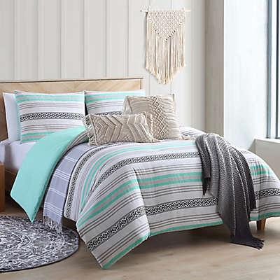 Sand Cloud Baja Comforter Set in Black/Aqua