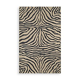 Trans-Ocean Zebra Black Indoor/Outdoor Rug
