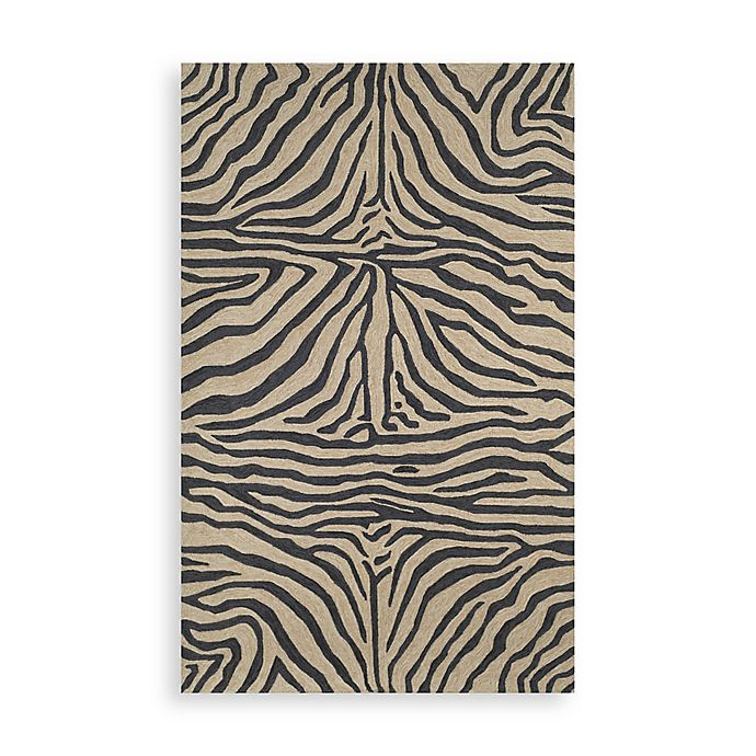 Trans Ocean Zebra Black Indoor Outdoor Rug