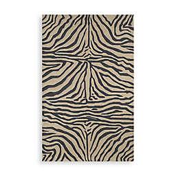Trans-Ocean Zebra Black Indoor/Outdoor Rug