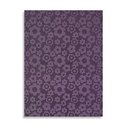 Garland Flowers Rug in Purple