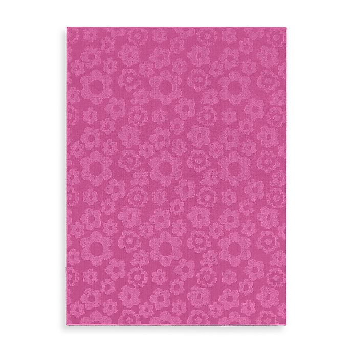 Garland Flowers Rug In Pink