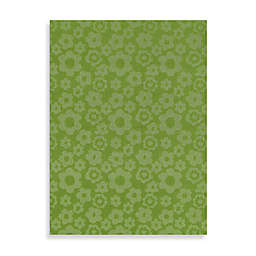 Garland Flowers Rug in Lime