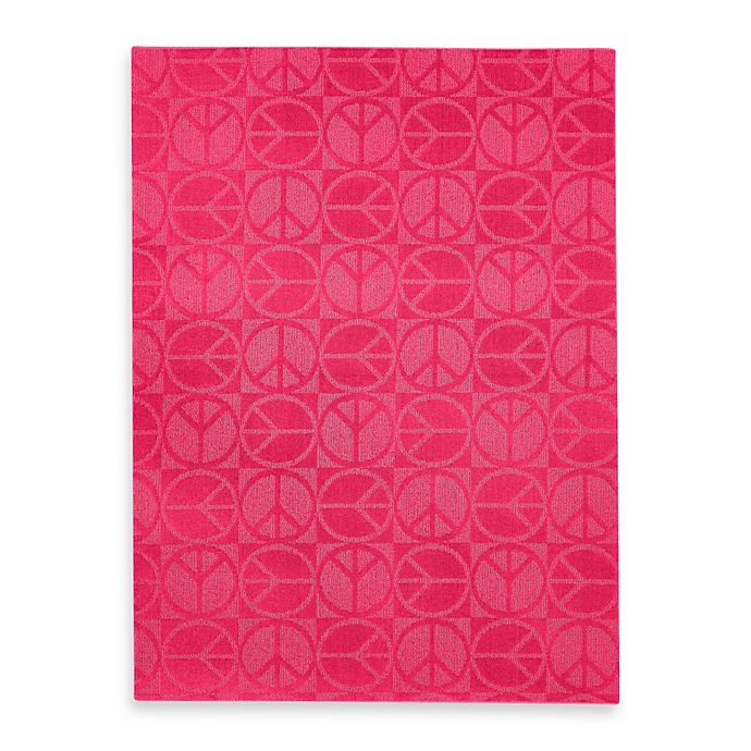 Alternate image 1 for Garland Large Peace Rug in Pink