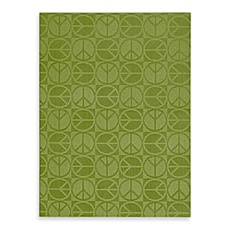 Garland Large Peace Rug in Lime