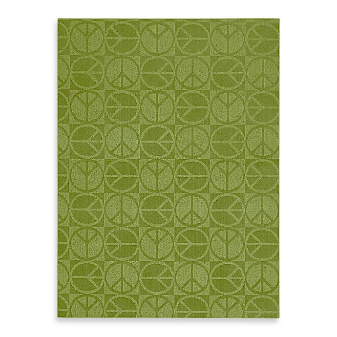Alternate image 1 for Garland Large Peace Rug in Lime