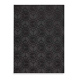 Garland Large Peace Rug in Black