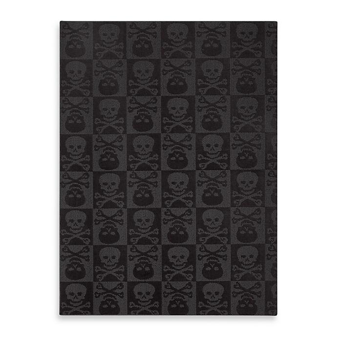 Alternate image 1 for Garland Skulls 5-Foot x 7-Foot Rug in Black