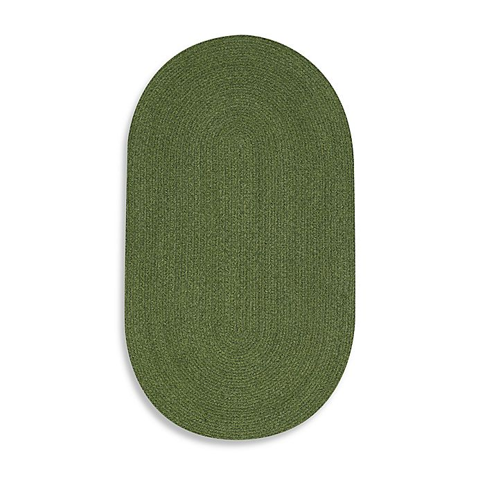 Alternate image 1 for Capel Rugs Manteo Braided Rug in Deep Green