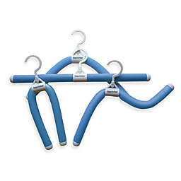 Luxury Living Bumps Be-Gone Attachable Hangers in Blue (Set of 20)