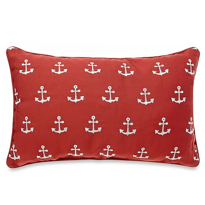 Alternate image 1 for Anchor Embroidered Oblong Throw Pillow