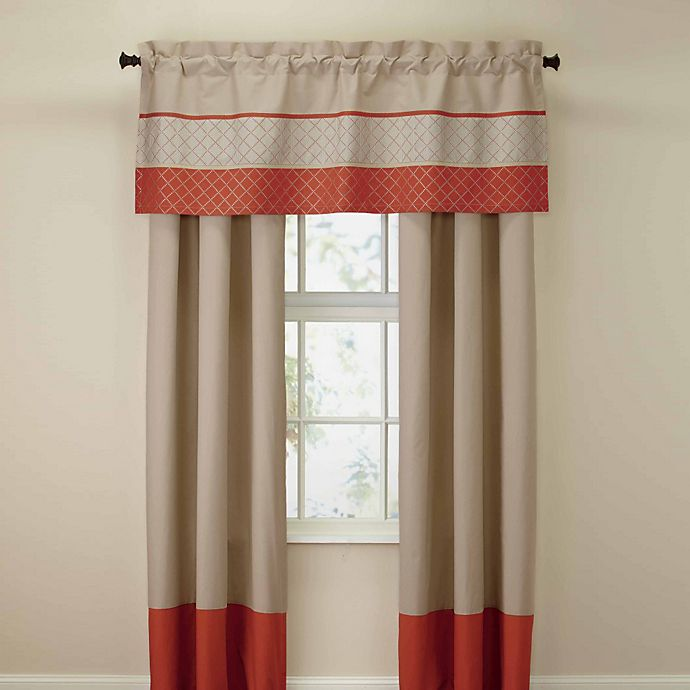 royal heritage home pelham window valance in orange bed. Black Bedroom Furniture Sets. Home Design Ideas