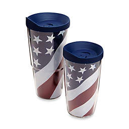 Tervis® American Flag Wrap Tumblers with Blue Lid