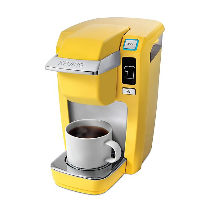 Alternate image 1 for Keurig® K15 Mini Plus Brewing System in Banana Yellow