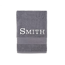 Monogrammed Wamsutta® Classic Turkish Bath Towel in Charcoal