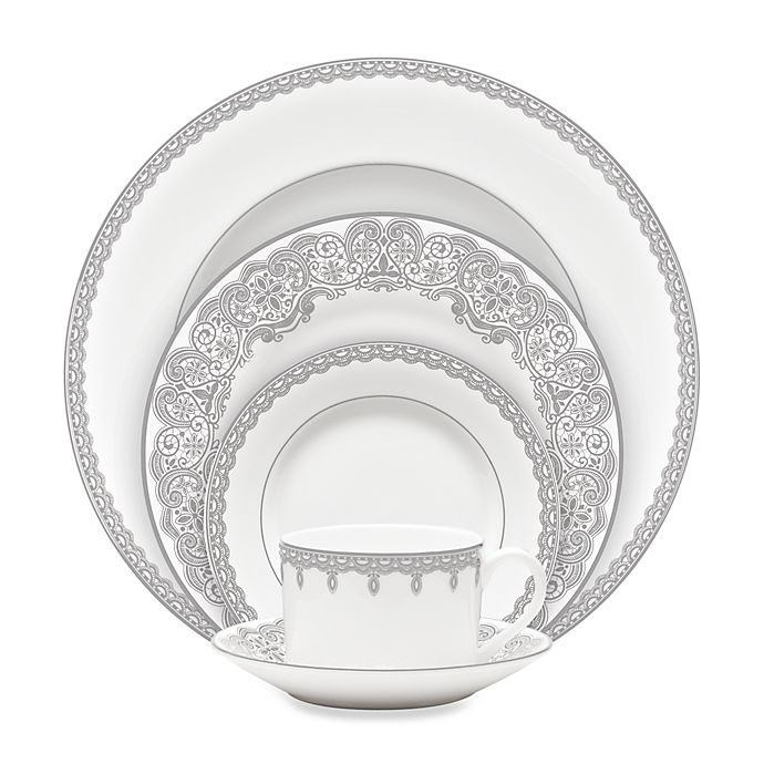 Alternate image 1 for Waterford® Lismore Lace Platinum Dinnerware Collection